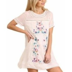 New Floral Embroidery bohemian dress